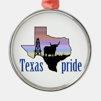 Texas Pride Metal Ornament