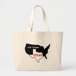 Texas Pride! Texas / Not Texas Large Tote Bag