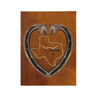 Texas Pride Wood Poster