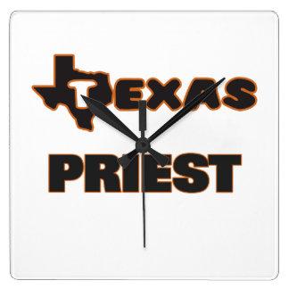 Texas Priest Square Wall Clock