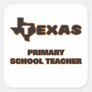 Texas Primary School Teacher Square Sticker