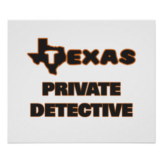 Texas Private Detective Poster