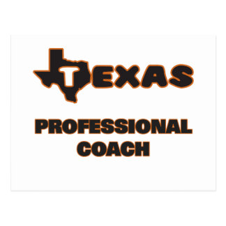Texas Professional Coach Postcard