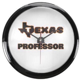 Texas Professor Fish Tank Clocks