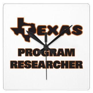 Texas Program Researcher Square Wall Clocks