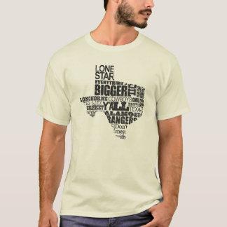 Texas Proud - Typography Texas Shape T-Shirt