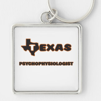 Texas Psychophysiologist Silver-Colored Square Keychain