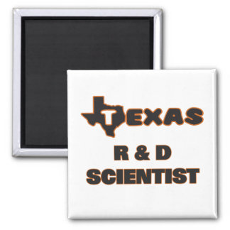 Texas R & D Scientist 2 Inch Square Magnet