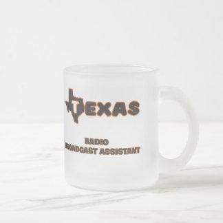Texas Radio Broadcast Assistant 10 Oz Frosted Glass Coffee Mug