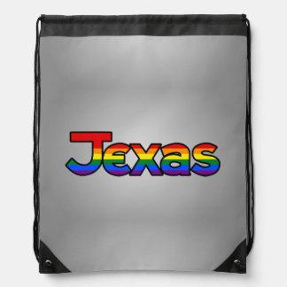 Texas Rainbow text Backpack