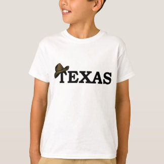 Texas Rancher Cowboy Hat Kids T-shirt