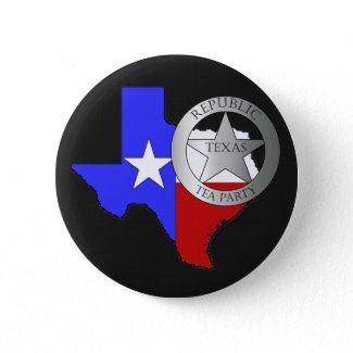 Texas Ranger Tea Party - Black button