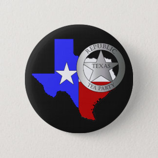 Texas Ranger Tea Party - Black Button