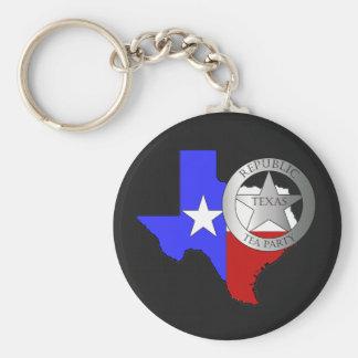 Texas Ranger Tea Party - Black Keychain