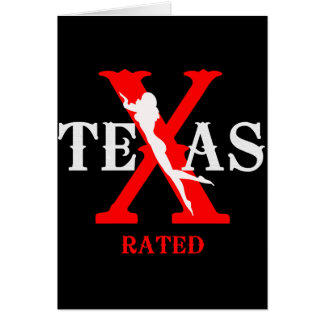 Texas Rated - X Rated Card