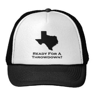 Texas Ready For A Throwdown Hats