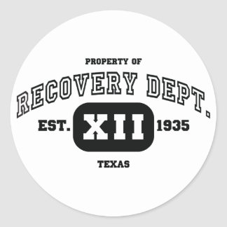 TEXAS Recovery Classic Round Sticker