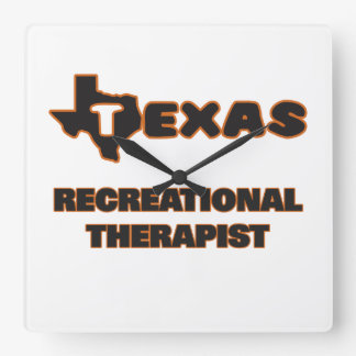 Texas Recreational Therapist Square Wall Clock