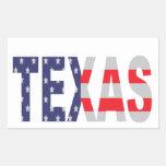Texas Rectangular Sticker