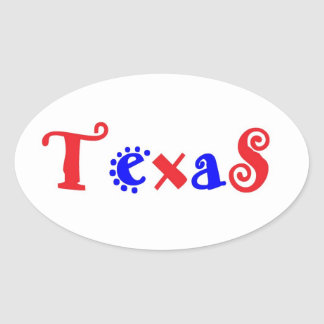 Texas red blue stickers