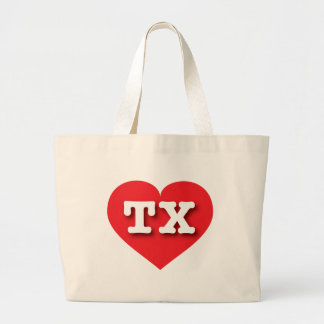Texas Red Heart - Big Love Jumbo Tote Bag