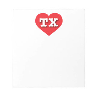 Texas Red Heart - Big Love Notepad