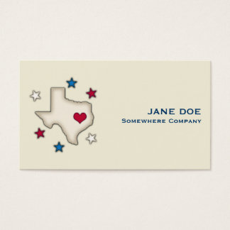 Texas Red Heart Business Card