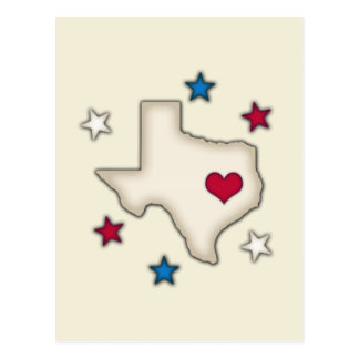 Texas Red Heart Post Card