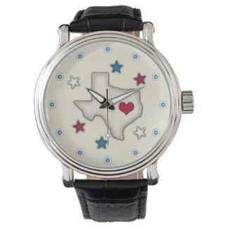 Texas Red Heart Wristwatches