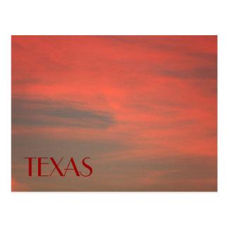 TEXAS Red Sky Postcard
