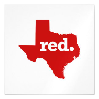 TEXAS RED STATE MAGNETIC CARD