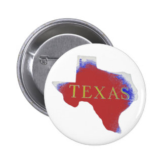 texas red, white & blue badge pinback button