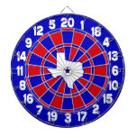 Texas Red White & Blue Dartboard With Darts