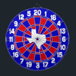"Texas Red White &amp; Blue Dartboard With Darts<br><div class=""desc"">Add some proud Texan red,  white and blue style to your gameroom with our exclusive Texas Red White &amp; Blue dartboard. A GamersHQ exclusive!</div>"
