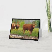 Texas Reindeer Greeting Card