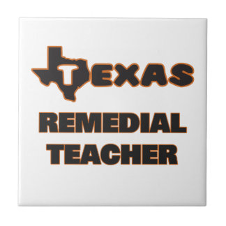 Texas Remedial Teacher Small Square Tile
