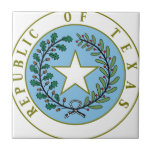 "Texas (Republic of Texas Seal Color) Ceramic Tile<br><div class=""desc"">Texas&#160;is the&#160;second most populous&#160;(after California) and the&#160;second-largest&#160;of the&#160;50 states&#160;(after Alaska) in the&#160;United States of America, and the largest state in the&#160;48 contiguous United States. Geographically located in the&#160;South Central&#160;part of the country, Texas shares an&#160;international border&#160;with theMexican&#160;states&#160;of&#160;Chihuahua, &#160;Coahuila, &#160;Nuevo Le&#243;n, and&#160;Tamaulipas&#160;to the south and borders the&#160;U.S. states&#160;of&#160;New Mexico&#160;to the west, &#160;Oklahoma&#160;to...</div>"