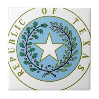 Texas (Republic of Texas Seal Color) Ceramic Tile