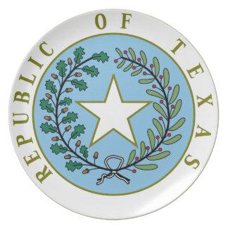 Texas (Republic of Texas Seal Color) Dinner Plate