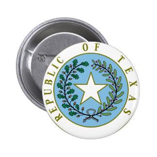 Texas (Republic of Texas Seal Color) Pinback Button