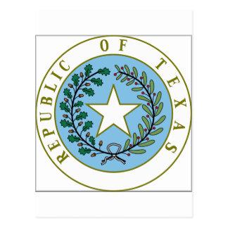 Texas (Republic of Texas Seal Color) Postcard