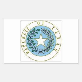 Texas (Republic of Texas Seal Color) Rectangular Sticker