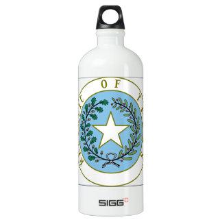 Texas (Republic of Texas Seal Color) Water Bottle