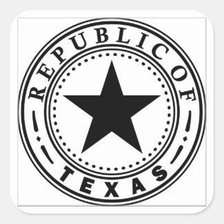 Texas (Republic of Texas Seal) Square Sticker