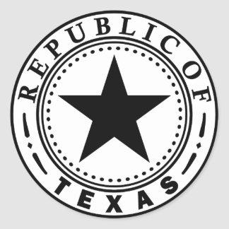 Texas (Republic of Texas Seal) Classic Round Sticker