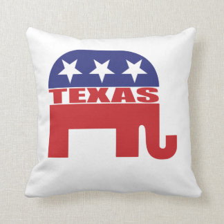 Texas Republican Elephant Throw Pillow