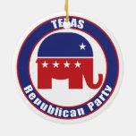 Texas Republican Party Ceramic Ornament