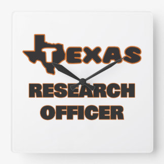 Texas Research Officer Square Wallclock