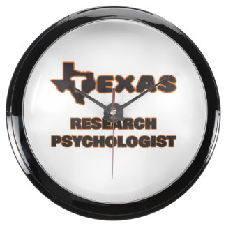 Texas Research Psychologist Fish Tank Clock