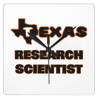 Texas Research Scientist Square Wall Clocks